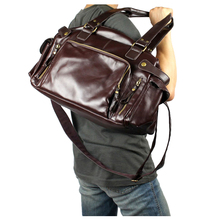 Hot Fashion Men Leisure England Retro Handbag Brown Black Big Capacity Multiple pocket Crossbody Bag with Long Strap