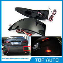 LY012-2 Black Smoked Lens LED Bumper Reflector Tail Brake Light Red Color for XE20 2006-13 Lexus IS 250 350