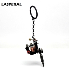 "LASPERAL Jewelry 1PC Gunmetal Mini Tattoo Machine Chains Key Ring For Boy & Girl Jewelry Gifts 15cmx4cm(5 7/8""x1 5/8"")"