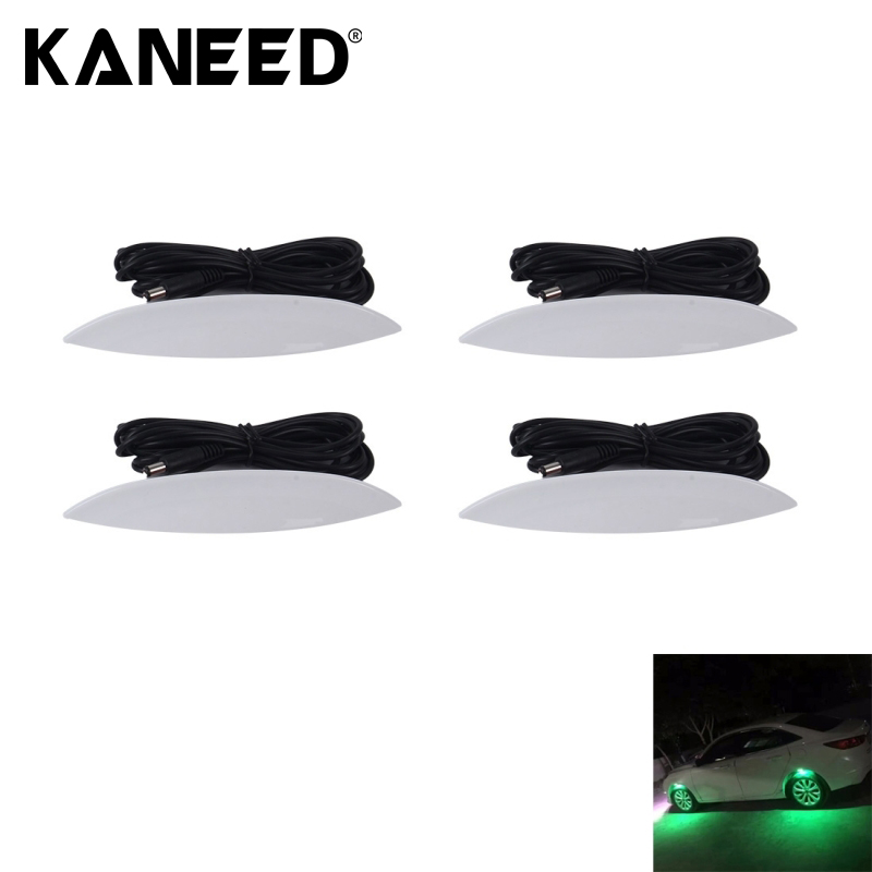 4PCS Car Truck LED Wheel Lights Tire Light Eyebrow Shape Decorative Lights Kit Atmosphere Lamp 3 Mode DC 12-24V<br>