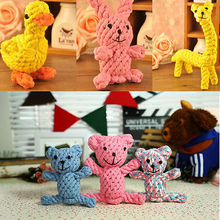Baby Kids Boys Girl Toys Tough Strong Chew Knot Teddy Toy Pets Puppy Healthy Teeth Bear Cotton Rope
