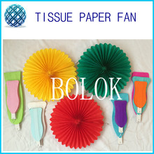 100 pcs/lot 40cm 16 Inch large Handmade Beautiful Paper Fan Bulk Sale(China)
