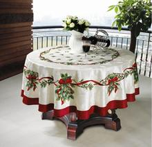 Christmas Oblong Home store&more Navidad Table Linens Table Runner Lengthen Satin Tablecloth Xmas Table Flag Towel Cloth Covers