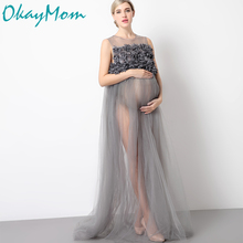 Maternity Photography Props Pregnancy Wear Party Evening Dresses Clothes Maternity Clothing For Photo Shoots Pregnant Dresses(China)