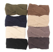 fashion Women Headband Crochet Ear Warmer Knit Headband Headwrap Winter Headband Women Hair Accessories 120pcs
