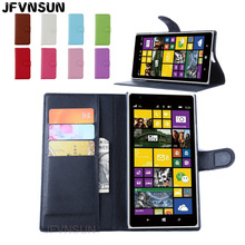 JFVNSUN Case for Microsoft Nokia Lumia 1520 Wallet Card Slots Magnetic Leather Flip Cover for Nokia Lumia 1520 Stand Phone Bag