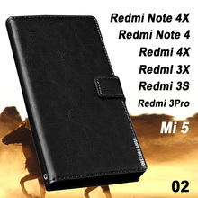 Xiaomi Redmi note 4X case leather Crazy horse case for Xiaomi Redmi note 4 64gb case Royal wallet Xiaomi Redmi note 4 pro case