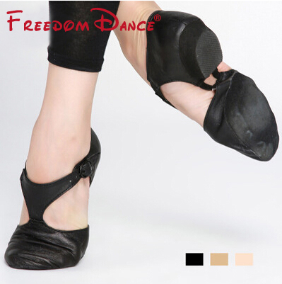 Genuine Leather Stretch Jazz Dance Shoe For Women Ballet Sport Dancing Shoe Teachers's Dance Sandals Children Excercise Shoe(China)