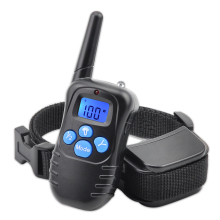 Ipets 998DRB-1 Hot Sale 300M Rechargeable And Waterproof Shock Vibra Remote Control LCD Electric Pet Dog Training Collar