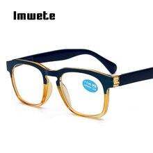 Imwete Óculos Impresso Pernas Óculos de Leitura Mulheres Homens espelho Óculos  de Armação Completa Prescrição Óptica Óculos para. bdd9e75ad5