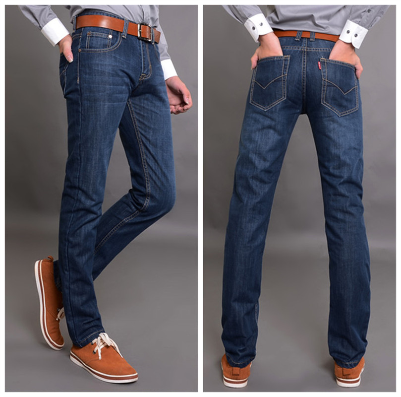 Men Jeans 2017 Hot Sale Mens Fashion Regular Straight Jean Homme Denim True Jeans For Men Pantalones Vaqueros Hombre Marca 1502Одежда и ак�е��уары<br><br><br>Aliexpress
