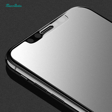 100Pcs/lot DHL free Frosted matte Tempered Glass For iPhone X Screen Protector Anti Fingerprint Glare Proof Film guard saver(China)