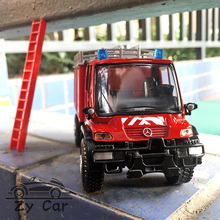 1:32. Benz Fire truck112 ambulance Alloy metal Sports car model child toy Collection decoration gift(China)