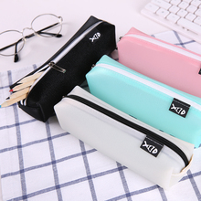 MINUSONEESLITE Kawaii Student Pencil Case For Girls School Leather Pencil Box Black Kids Pencils Cases For Boys Fashion Pen Box(China)