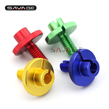For YAMAHA FZ6 N/S FZ6R XJ6 FZ8 FZ-1N FAZER Gold/Blue/Red/Green Motorcycle CNC Billet Clutch Cable Wire Adjuster M10x1.5(China)