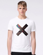 The XX Rock Band Logo Tshirts Coexist Cross Indie Crooks Alternative T-shirts Mens Retro Rock Music T Shirts M539