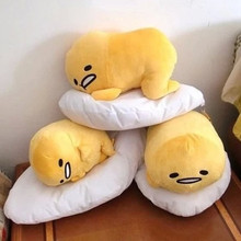 40*30cm Gudetama Lazy Egg Egg jun Egg Yolk Brother Large Doll Pillow Lazy Balls Stuffed Plush Toy For Children Friend Gift