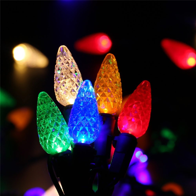 Faceted C5 LED Christmas Lights (6)