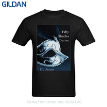 GILDAN Good Quality Brand Cotton Shirt Summer Style Cool Shirts Youranli Men's Fifty Shades Darker Mask Poster T Shirt