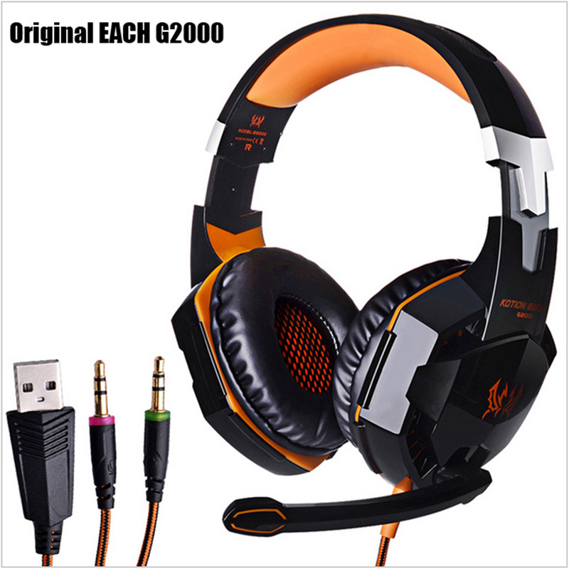 Kotion Each G2000 Gaming Headset Over-ear Deep Bass Game Headphone Stereo Surround LED Lights HIFI Noise Cancelling Headphones<br><br>Aliexpress