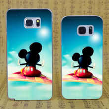 DREAM FOX B1306 Flying Carpet Mickey Mouse Transparent Hard PC Case For Samsung Galaxy S 4 5 6 7 8 Mini Edge Plus Note 3 4 5 8(China)