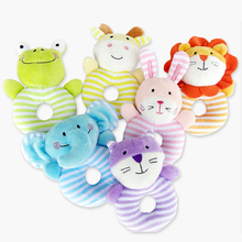 Baby Cute Rabbit Plush Rattles Soft Mobiles Cartoon Animal Handbells Newborn Toddlers Grasp Training Toys Bebek Oyuncak