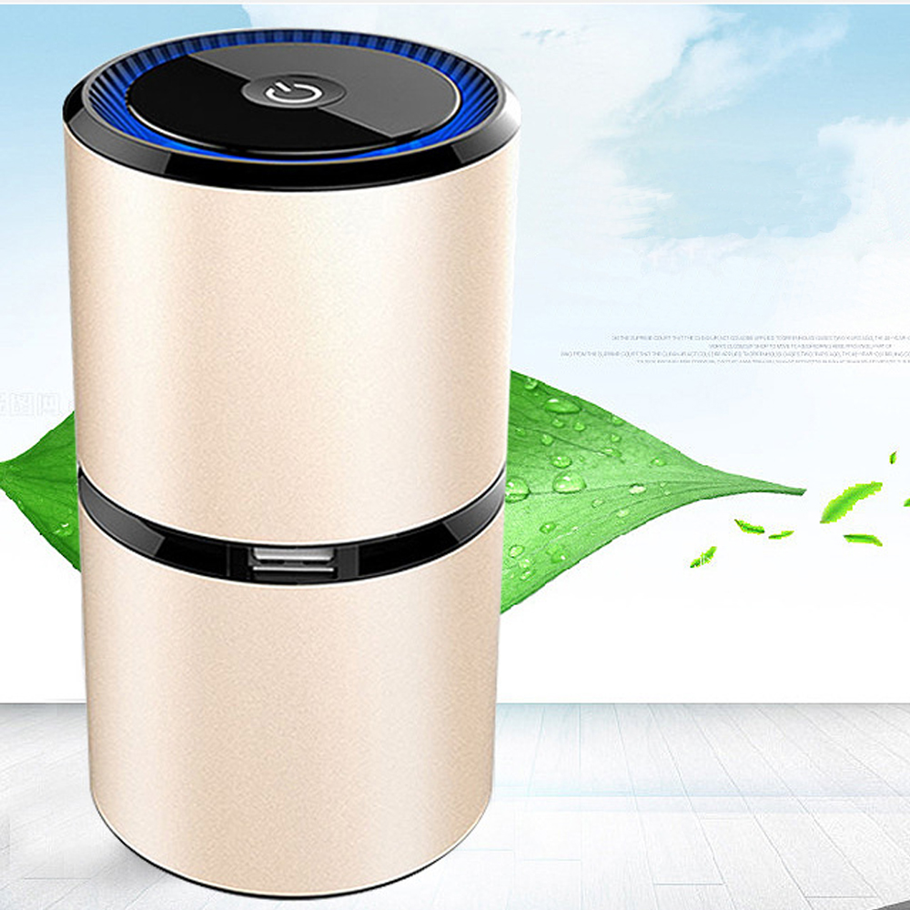PurePro Ionizer - Portable Ionic Air Purifier with Dual USB Ports<br>