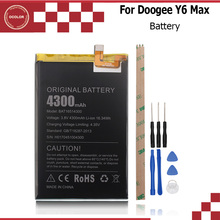 Doogee Y6 Max 3D Battery 100% original 4300mAh Li-ion replacement Backup Battery for Doogee Y6 Max Smartphone In Stock+Tools