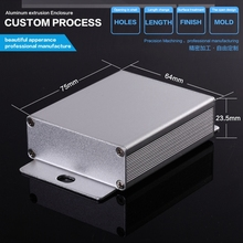 YGK-006 64*23.5*75/2.52''x0.93''x3.74''(wxhxl)mm Aluminum diy electronic enclosure for free style custom project boxes