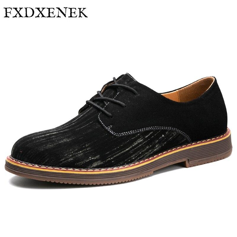 FXDXENEK Size 39-44 Men Oxfords Faux Suede Leather Men Casual Shoes 2017 Autumn Fashion High Quality Oxford Shoes Men Flats<br>