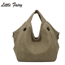 Little Fairy 2017 New Fashion Lady Canvas Handbag Large Capacity Single Shoulder Bag High Quality  Casual Women Bag SBJ4