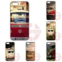For Apple iPhone 4 4S 5 5C SE 6 6S 7 7S Plus 4.7 5.5 iPod Touch 4 5 6 Phone Cases Cover Vw Volkswagen Bus On The Beach Travel