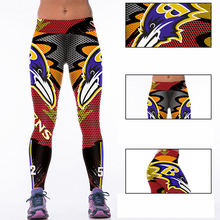 Woman Yoga Pants Fitness Fiber Sports Ravens Leggings Tights American football Trousers Exercise Training Clothing Sportswear(China)