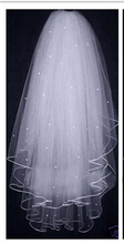 2015 Free Shipping! Ribbon Edge Short Wedding Veils 2 Layers Pearls White Ivory Bridal Veils Wedding Accessories V5