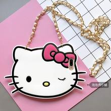 For Apple Iphone 6 case Cute 3D Cartoon Hello Kitty KT Cat Soft Silicon For Iphone 7 6S Plus Phone Case Back Cover with Chain(China)