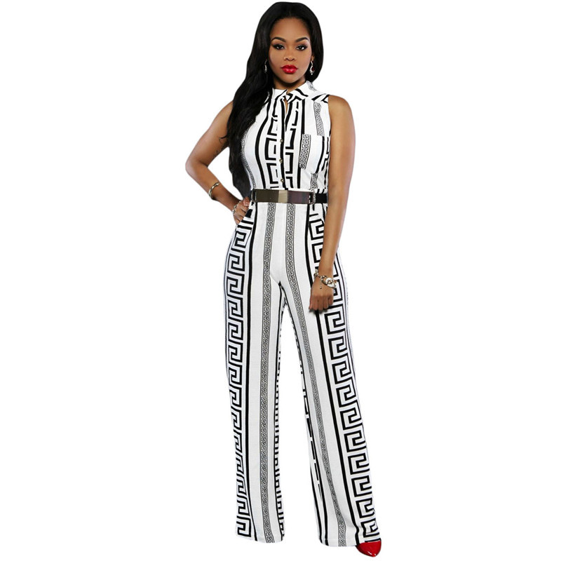 Dear-Lover-Wide-Leg-Jumpsuit-Overalls-2016-Long-Trousers-Outfits-Fashion-Women-Black-Print-Gold-Belted (2)