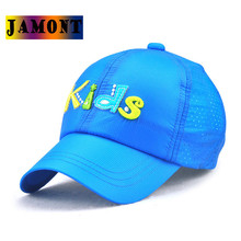 JAMONT Kids Baseball Caps Trend Snapback Parent Child Patchwork Letter Boys And Girls Summer Quick Dry Sun Hat Sunscreen Avoid(China)