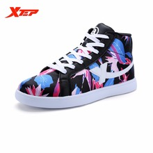 XTEP Brand Cheap Women's Skateboarding Shoes Classic Trainers Ladies Printing Skateboard Skater Original Sneakers 984418319505