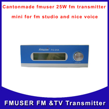 Cantonmade FU-25A CZH-25A 25W Professional FM radio Transmitter Guangzhou long range for audio studio car station(China)