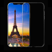 Crystal Clear Silicon Cases for iphone X Soft TPU Cover Capa Wholesale Trade Price Factory Supply Good Quality Mobile Phone 10(China)
