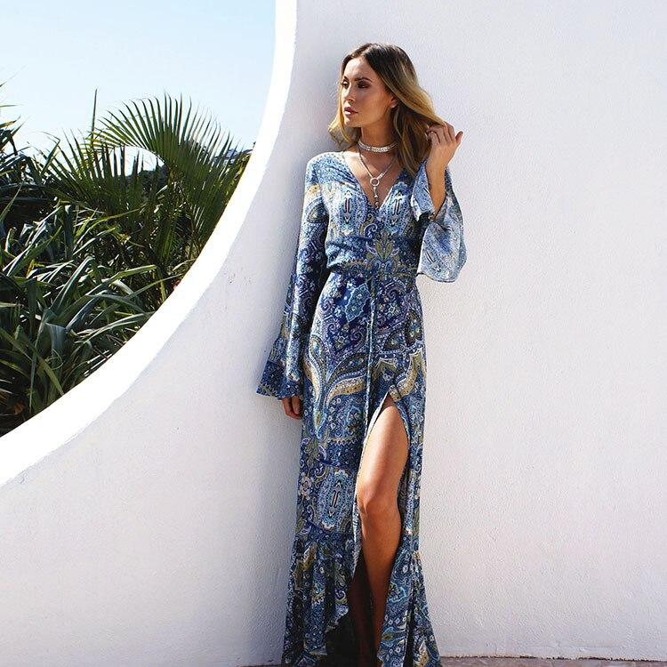Kaftan Beach Cover Ups Bathing Suit Swimwear Women Swimsuit Coverup Bohemia Long Sleeve Dress Moda Praia Vestido Robe De Plage<br><br>Aliexpress