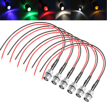 1PC White Red Blue LED Indicator Light Lamp Pilot Dash Directional Car Motorcycle Boat 12V LED Lights(China)