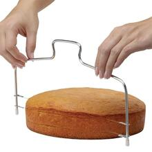 New Double Line Stainless Steel Metal Cake Cut Tools Cake Slicer Device Decorating Mold Bakeware Kitchen Cooking Tool