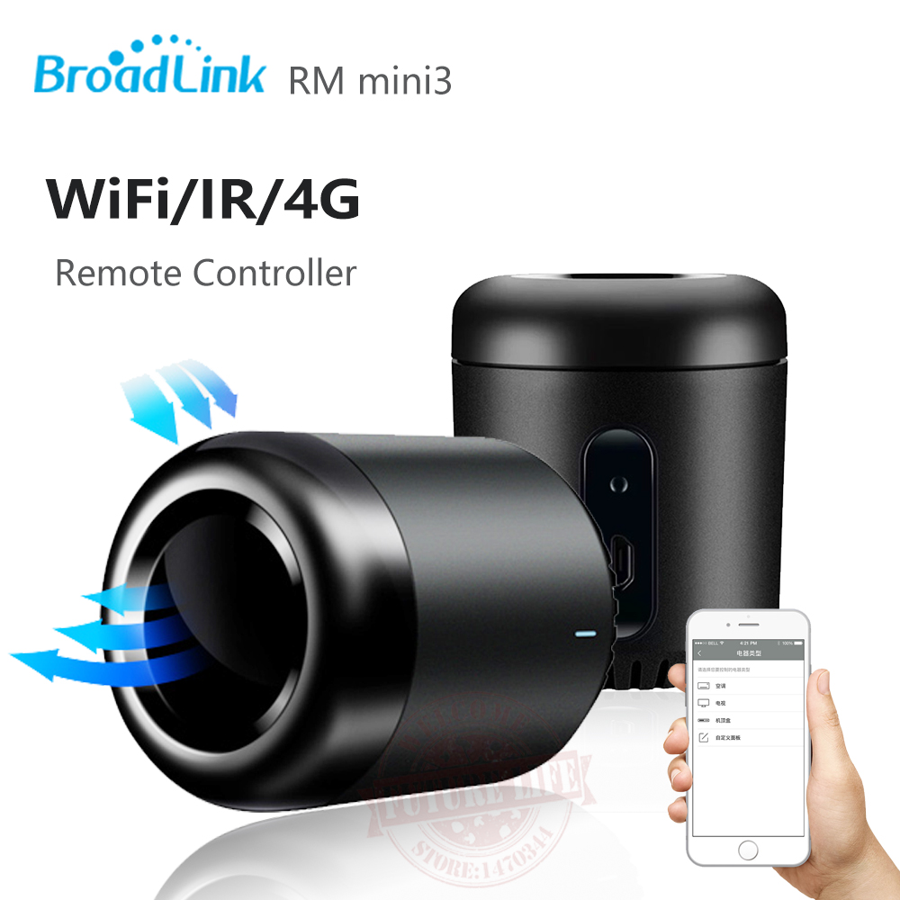 Newest Broadlink RM Mini3 Black Bean Smart Home Universal Intelligent WiFi/IR/4G Wireless Remote Controller By Smart Phone<br><br>Aliexpress