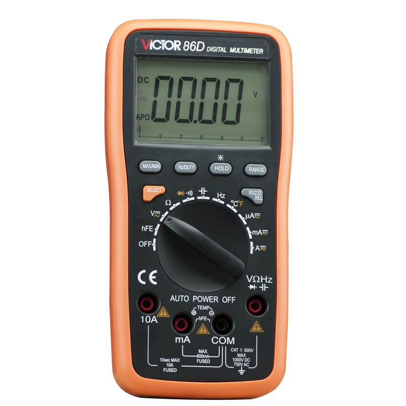 VICTOR VC86D Multimeter VC30274, Digital Multimeter Meter meter with RS232 and USB jack<br>