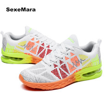 Size 36-44 2017 Sneakers women shoes Lovers Air cushion Running shoes women and men Sports Shoes Brand Summer Flywire Breathable