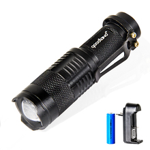 3-Mode Led Flashlight Zoomable Tactical Flashlight LED Torch Light Portable Lanterna 14500 Battery For Bicycle Camping