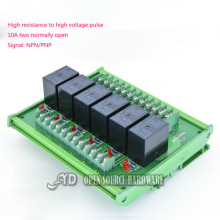 Buy 6 channel Omron relay module 6-channel module driver board output amplifier board PLC board G4W 12V 24V for $35.00 in AliExpress store