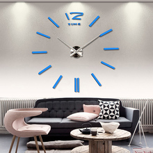 Factory Price! New Luxury Wall Clock Living Room DIY 3D Home Decoration Mirror Large Art Design