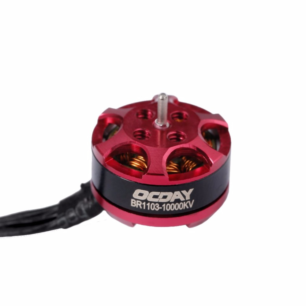 OCDAY BR1103 10000KV Brushless Motor Red for 50 80 100 Quadcopter Racing Drone Hot Sale